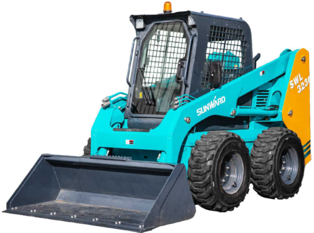 Wheeled skid steer loader