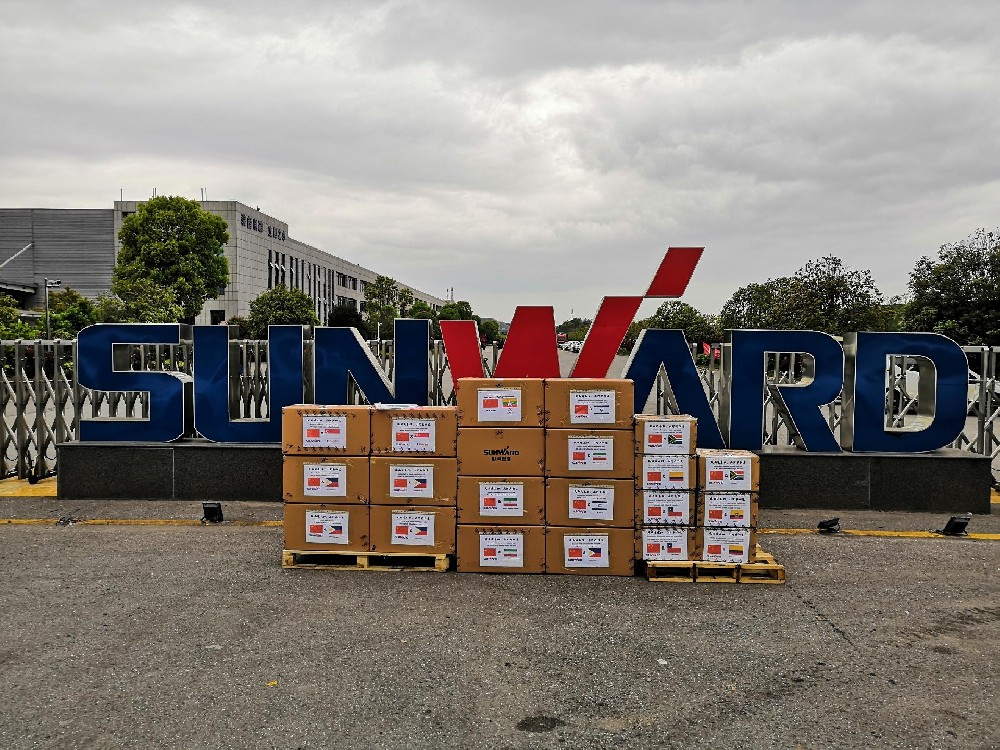 "Sunward Group donated 200,000 pieces of ""SUNWARD"" brand medical masks to many Countries"