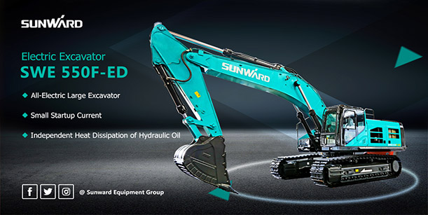 Sunward  Debuts  All-Electric  Large  Excavator: SWE 550F-ED