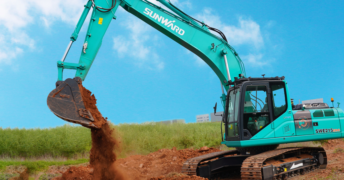 Sunward has delivered the first batch remoted-controlled excavators SWE215ERC
